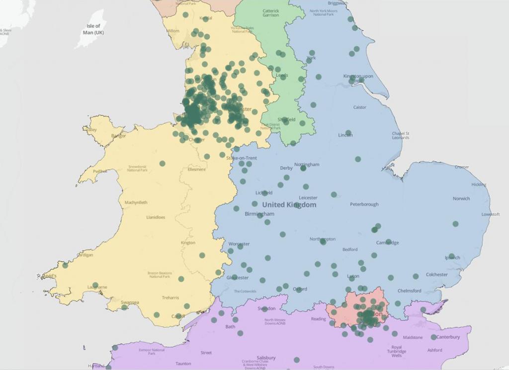 Mapbox Tableau Customer Map