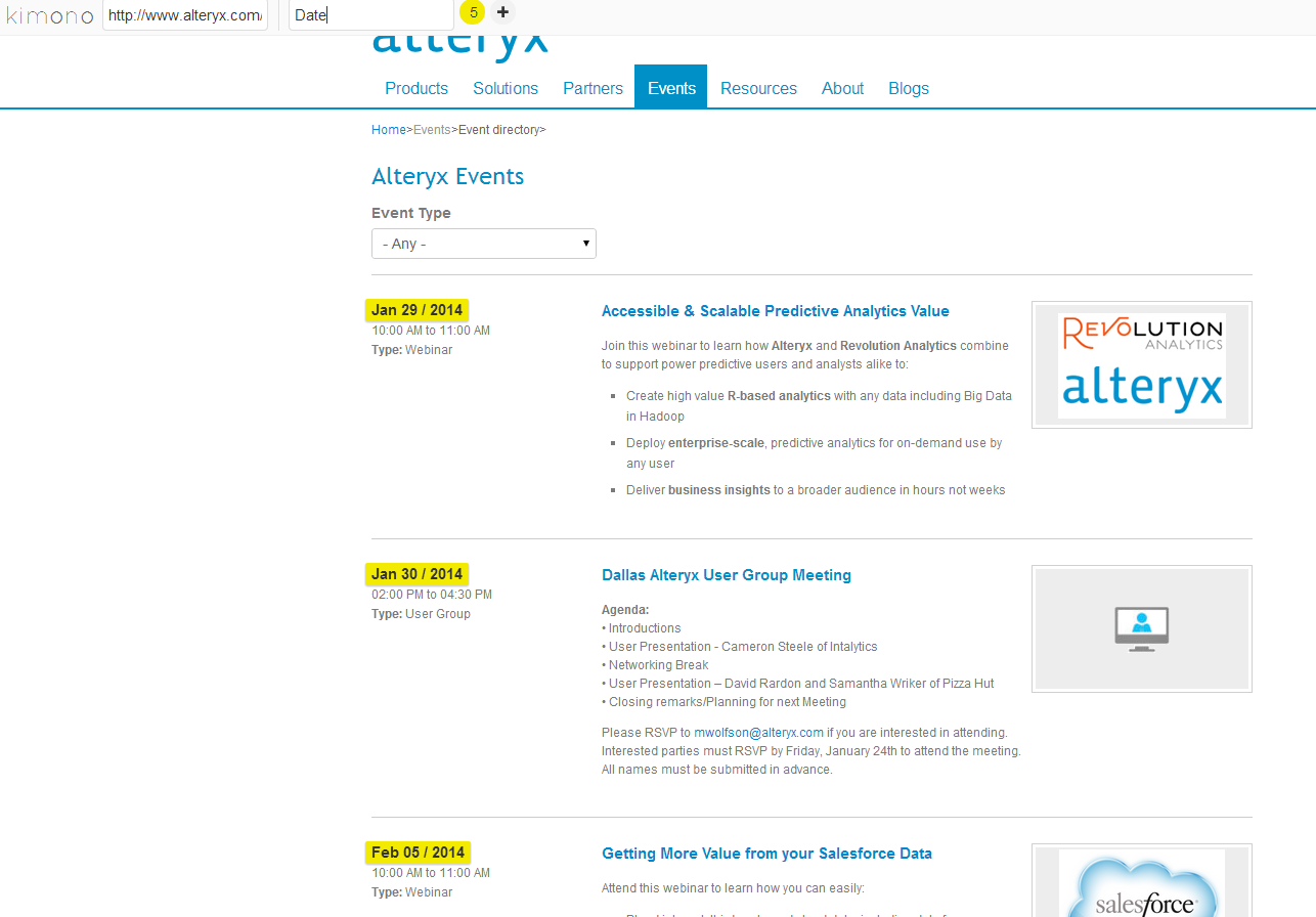 Web Scraping using Alteryx and Kimono Labs - The Information Lab