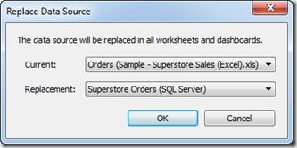 replace datasource