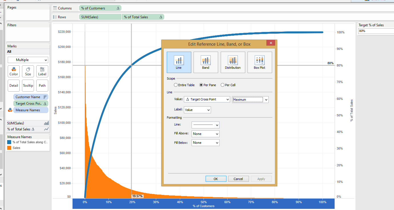 Pareto charts in tableau the information lab dynaimc nvjuhfo Gallery