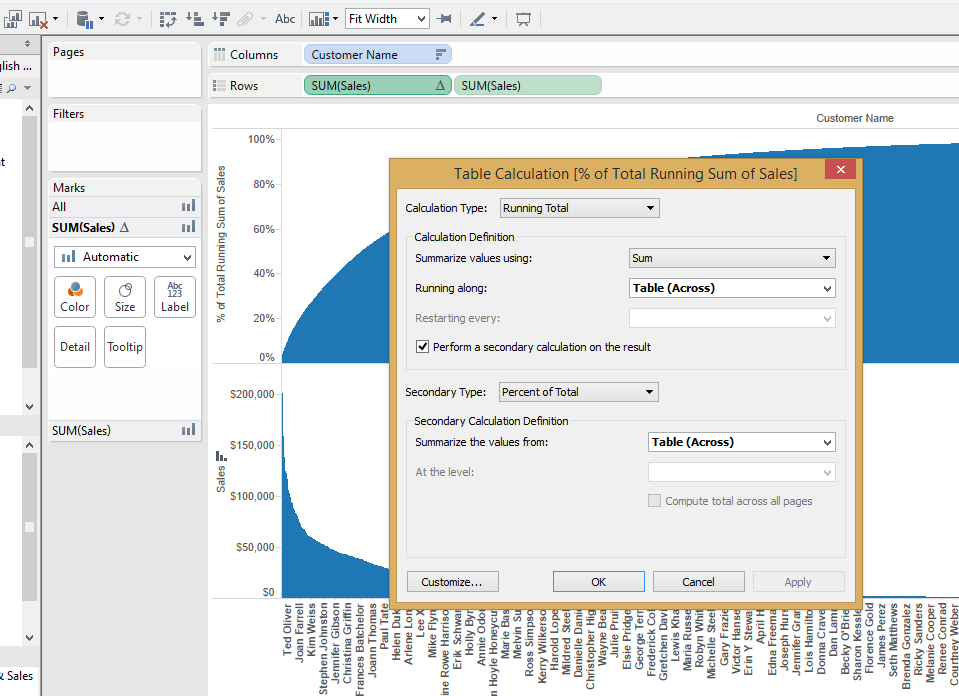 Pareto Charts In Tableau The Information Lab