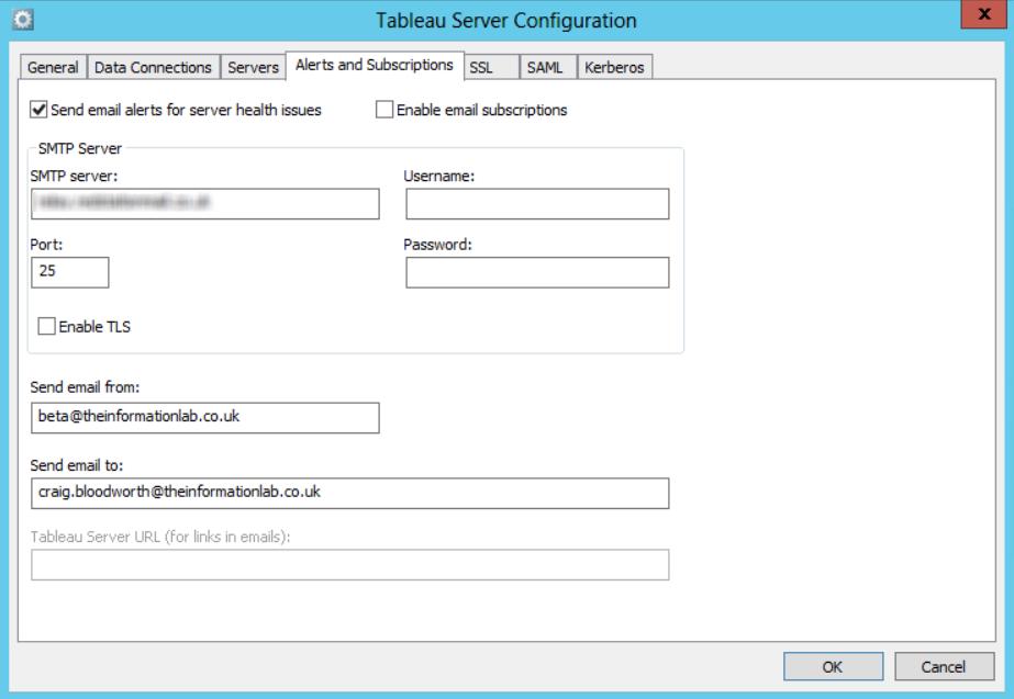 Tableau Server Config