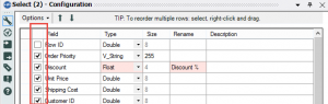 Select Tool: Remove Columns