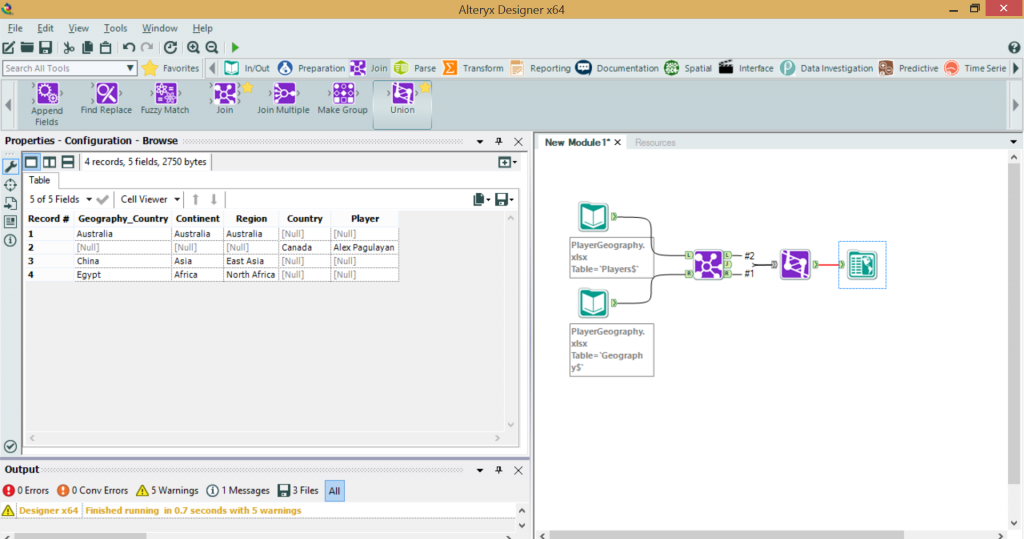 Alteryx full outer join minus intersection