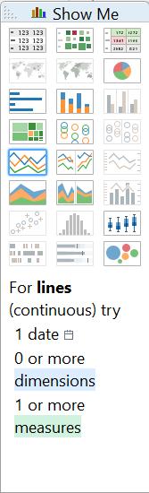 Show Me - continuous lines