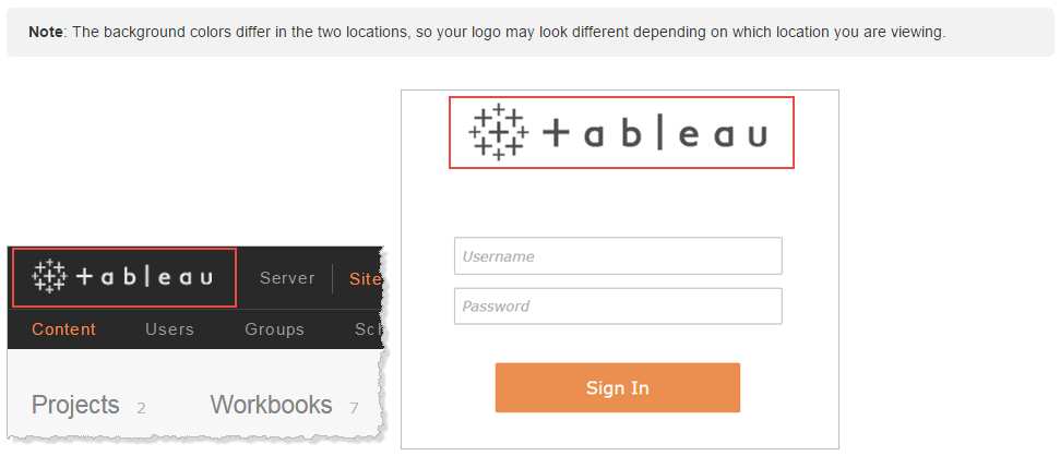 Tableau Server Custom Logo