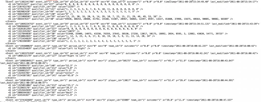 Opta XML