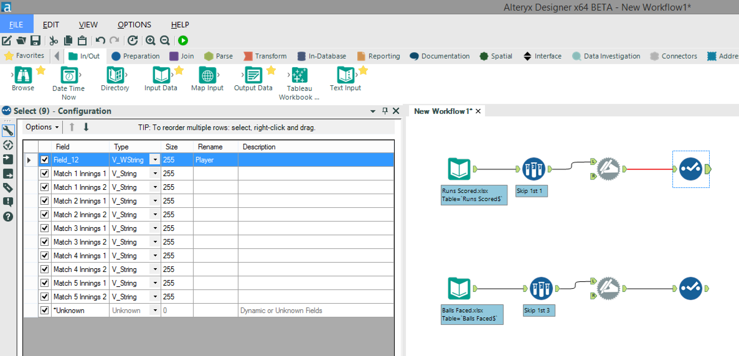 Alteryx For Sport Reshaping Your Excel Worksheets The – Step Four Worksheets