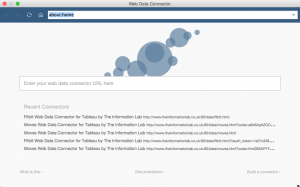 Tableau Web Data Connector Screen
