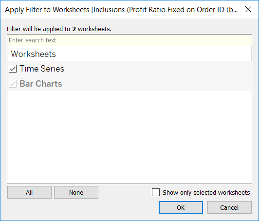 Applying Keep Onlyexclude Filters Across Multiple Sheets The