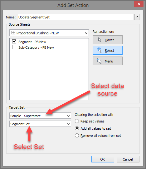 Tableau Set Actions - The Information Lab