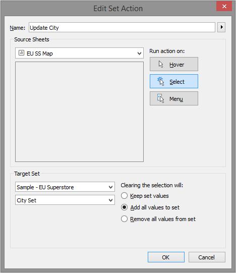 Set Action Configuration