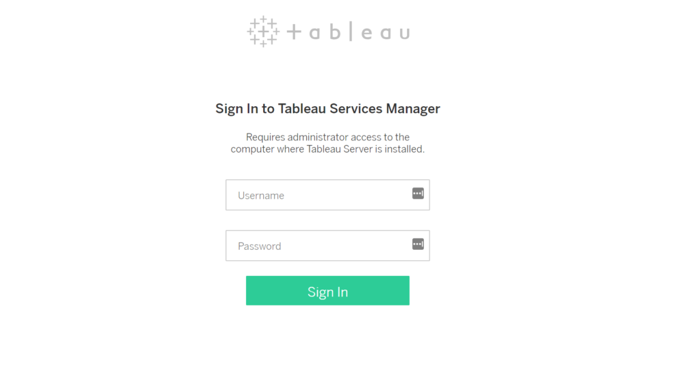 Basic Tableau Server tasks with the new TSM Command Line