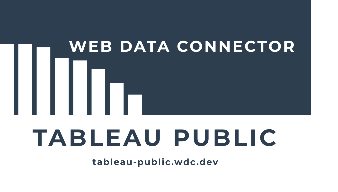 Web Data Connector for Tableau Public