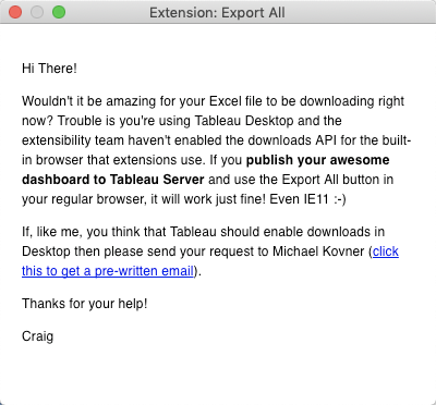 Export All Extension for Tableau v2 Released - The