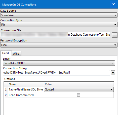 Reading and/or Writing to Snowflake from Alteryx - The